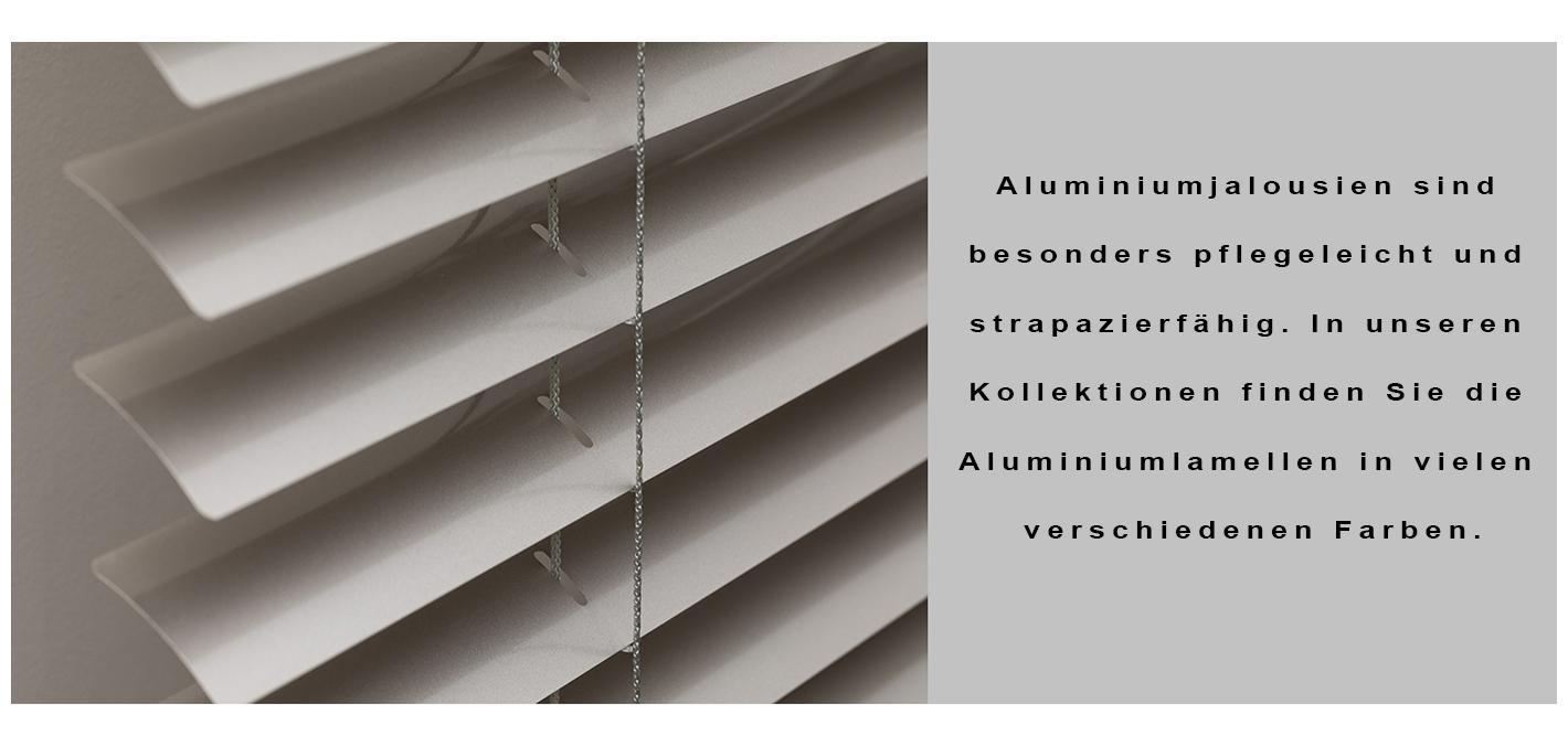 Aluminiumjalousie mit 38mm Leiterband